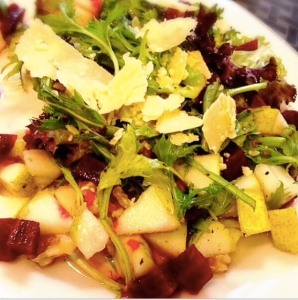 Bit-root, Pear and Walnut Salad